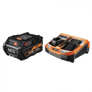 Set L1860R HD BLK - Batterie avec chargeur rapide - AEG - 6 Ah - 18 V