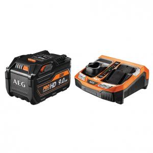 Set L1890R HD BLK - Batterie avec chargeur rapide - AEG - 9 Ah - 18 V