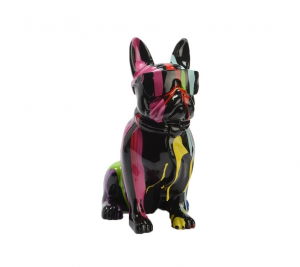 Bulldog USA cravate trash en polyrésine - Amadeus - 36 cm - Noir