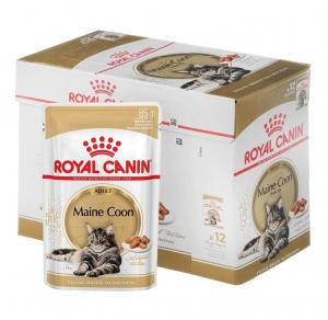 Boîte Maine Coon Adult en sauce pour chat adulte - Royal Canin - 12 x 85 g