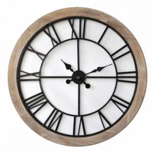 Horloge tour en bois - 80 cm