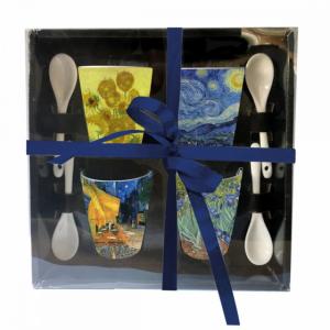 Pack 4 tasses et 4 cuillères - Van Gogh