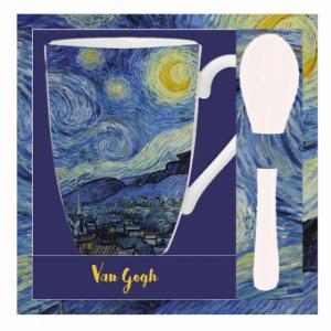 Mug et cuillère Nuit étoilée de Van Gogh