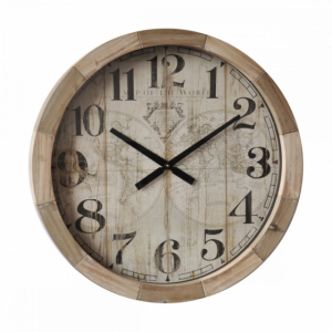 Horloge Mappemonde - 63 cm