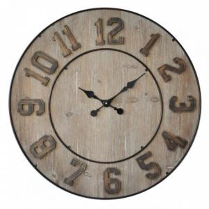 Horloge bois et métal - 70 cm