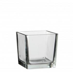 Vase transparent Lotty - Mica Decorations - carré - 12 cm