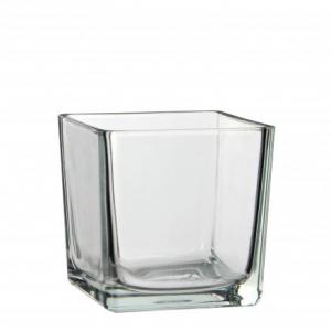 Vase transparent Lotty - Mica Decorations - carré - 14 cm