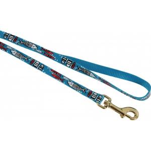 Laisse nylon Sardine pour chat - Zolux - 1 m / 10 mm - Bleu Turquoise