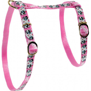 Harnais Nylon LadyCat pour chat - Zolux - 10 mm - Rose