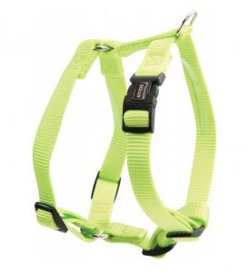Harnais Nylon réglable pour chiens - Zolux - 25 mm - Vert Anis