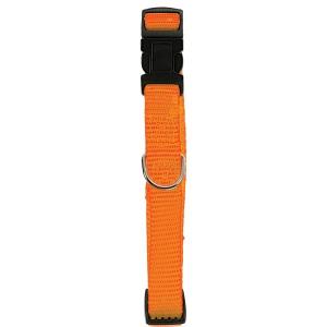Collier Nylon réglable pour chien - Zolux - 10 mm - Orange