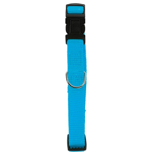 Collier Nylon réglable pour chien - Zolux - 10 mm - Bleu Turquoise