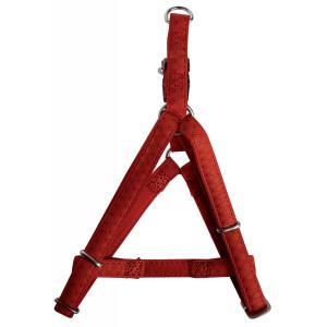 Harnais réglable Mac Leather pour chien - Zolux - 20 mm - Rouge
