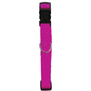 Collier Nylon réglable pour chien - Zolux - 20 mm - Rose Fuchsia
