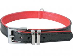 Collier cuir Victoria pour chien - Zolux - 25 cm - Noir