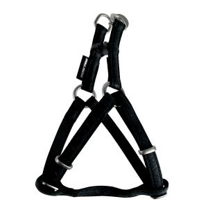 Harnais réglable Mac Leather pour chien - Zolux - 15 mm - Noir