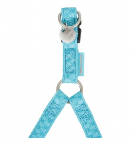 Harnais réglable Mac Leather pour chien - Zolux - 15 mm - Bleu Turquoise