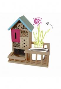 Abri insectes Garden Hôtel - 27 x 15,5 x 29 cm