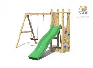 Aire de jeux Funny 3 - Fungoo - Avec Balançoire double Funny et bac à sable