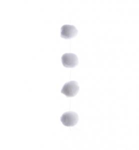 Guirlande - Boules de neige - Blanc 1,35 m