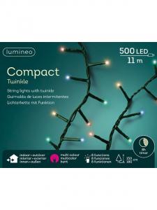 Guirlande Compacte -500 LED - Multicolore - 11 m - C âble vert