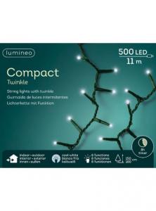 Guirlande - LED - Blanc froid - 11 m - C âble vert