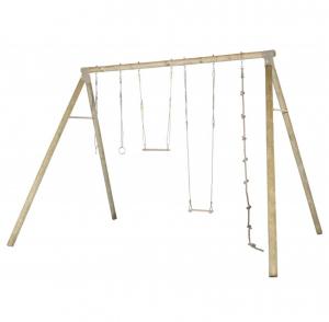 Portique bois OLIVER ado/adulte avec balançoire - Trigano - 4 personnes - 3 m