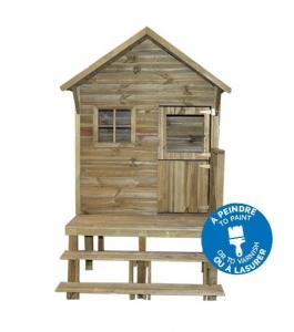 Maisonnette en bois Léna sur pilotis - Trigano - Pour enfants - 1,26 x 1,94 x 2,17 m