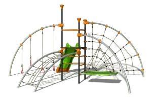 Structure de jeux Evo-Foly - Trigano - 5 agrès - 2,70 m
