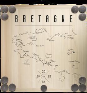 Kit planche + 12 palets - Carte de la Bretagne