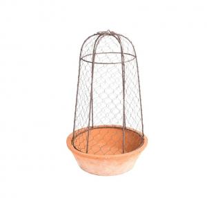 Pot bol + cloche métallique - Esschert Design - Ø 25,3 x 43,7 cm
