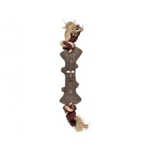 Jouet Woody visage + corde pour chien - Flamingo - En TPR - Ø 15 cm