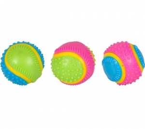 Balle sensorielle 5 sens pour chien - Flamingo - Multicolore - Ø 6,5 cm