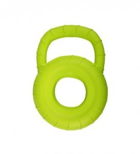 Jouet pour chien Callum Disque d'entraînement + poignée - Flamingo - 25 cm - Vert Lime