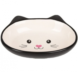 Gamelle pour chat ISA - Flamingo - 170 ml - 14 cm - Noir