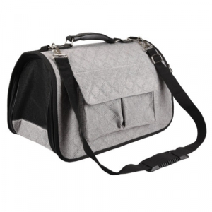 Sac de transport Amy - Flamingo - 45 x 21 x 28 cm - Gris et noir