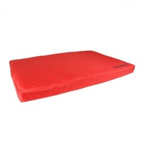 Coussin rectangle 'Moonbay' pour chiens - Flamingo - 80 x 55 x 8 cm - Rouge