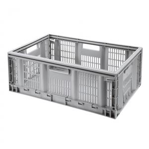 Caisse pliable empilable à usage multiple - Teknika - 60 x 40 x h 23 cm - 46 L