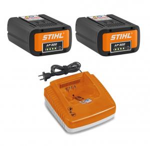 Pack ÉNERGIE Plus - STIHL - 2 Batteries AP 300 + 1 Chargeur AL 500