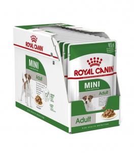 Boîte Mini Adult en sauce pour chiens - Royal Canin - 12 x 85 g