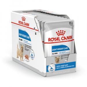 Boîte Light Weight Care en mousse pour chien - Royal Canin - 12 x 85 g