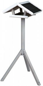 Mangeoire pour oiseaux - Trixie - avec support - grise - 46x22x44 cm/1,15