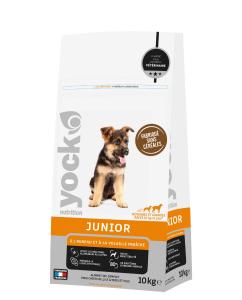 Aliment chien - Yock nutrition - sans céréales - Junior chiens de races moyennes et grandes - 10 kg