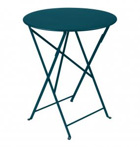 Table pliante Bistro - Fermob - Ø 60 cm - Bleu Acapulco