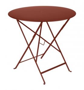Table pliante Bistro - Fermob - Ø 77 cm - Ocre rouge