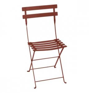 Chaise pliante Bistro - Fermob - Métal - Ocre Rouge