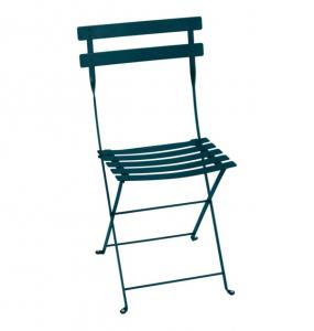 Chaise pliante Bistro - Fermob - Métal - Bleu Acapulco