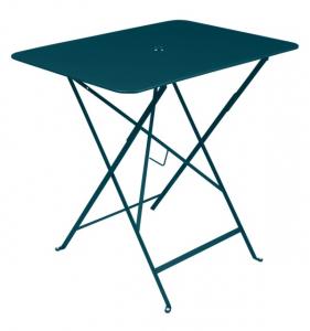 Table pliante Bistro - Fermob - 77 x 57 cm - Bleu Acapulco