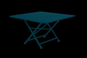 Table carrée pliante Cargo - Fermob - 128 x 128 cm - Métal - Bleu Acapulco