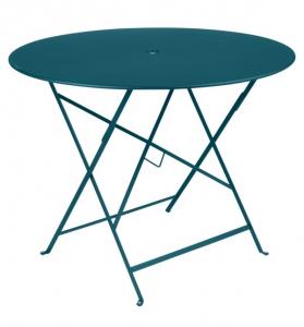 Table pliante Bistro - Fermob - Ø 96 cm - Bleu Acapulco